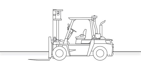 Engine Counterbalance Heavy Duty Forklift Truck