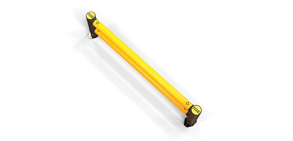 mFlex Double Traffic flexible polymer safety Guardrail (Micro) top view