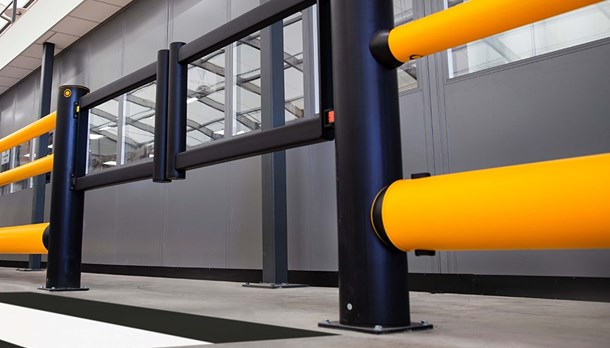 Industrial safety swing gates