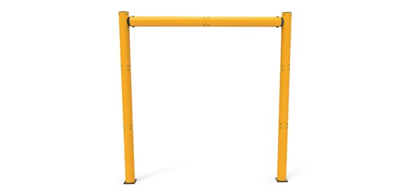high level height restrictor for industrial doorway protection