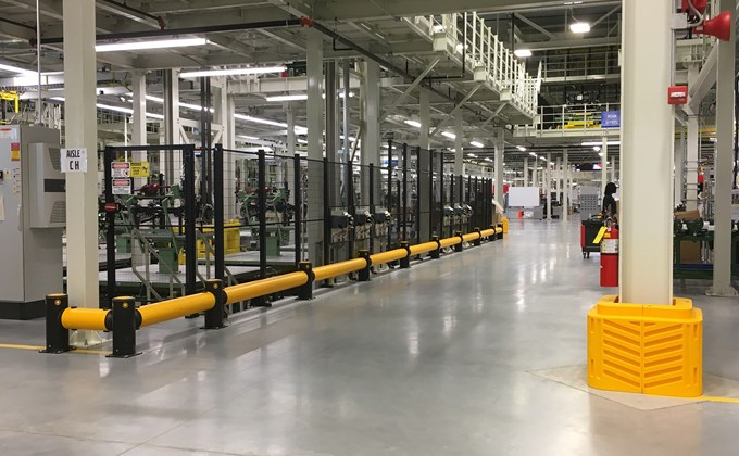 A-SAFE guardrail in Volvo factory