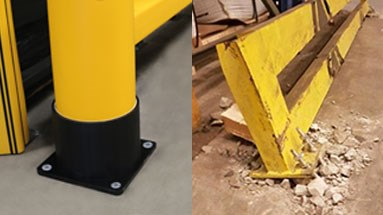 Rackend protection with no floor damage