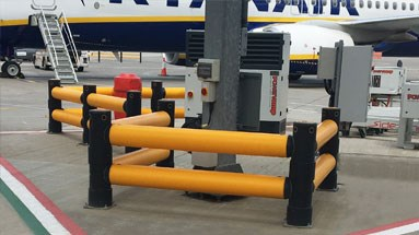Airport column protection outdoor