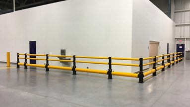 Volvo Cars installs a full suite of safety guardrails at its new site