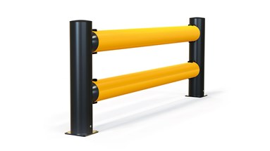 reFlex Double Traffic flexible polymer safety Guardrail side view