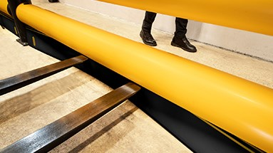 Forkguard kerb safety guardrail flex and recover on impact