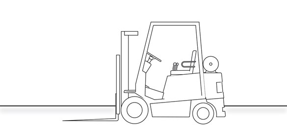 Heavy Duty Counterbalance Forklift Truck