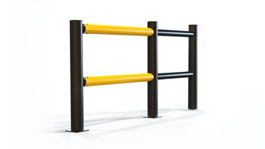 pedestrian crossing protection slide gate safety Guardrail side view
