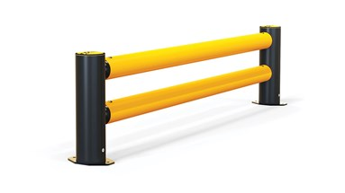 mFlex Double Traffic flexible polymer safety Guardrail (Micro) side view