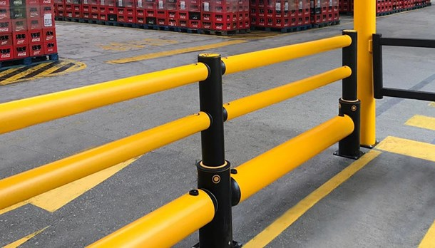 Hygienic industrial safety barriers for the food and drink industry