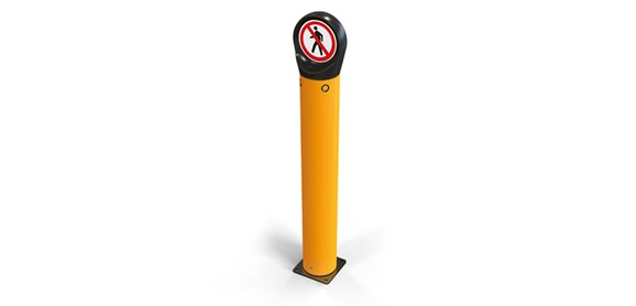 safety sign cap for traffic management, hazards, regulatory information and safety messages side view