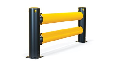 iFlex Double Traffic flexible polymer safety Guardrail side view