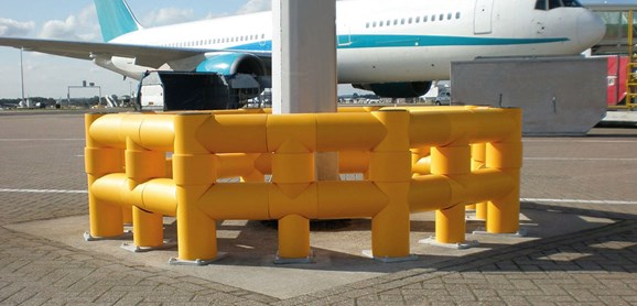 Atlas Polygon double flexible polymer Traffic safety Guardrail at airport