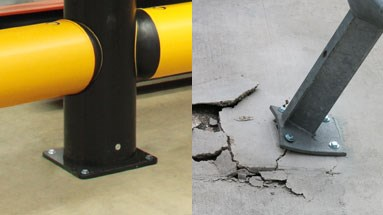 Barrier impact absorbing technology prevents floor damage