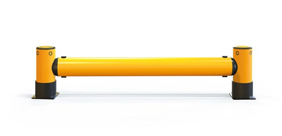 iFlex Rackend single flexible polymer safety Guardrail Yellow Post