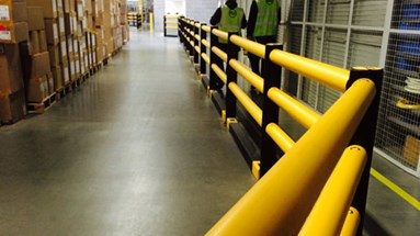 Pedestrian safety boost for UK clothing warehouse
