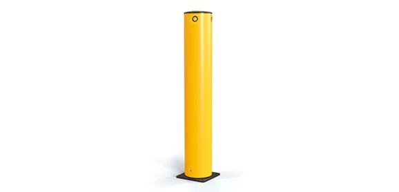 Flexible Polymer impact protection safety bollard side view