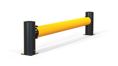 reFlex Single Traffic flexible polymer safety Guardrail side view