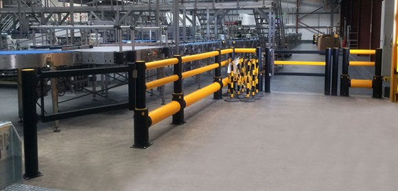 pedestrian crossing protection swing gate at factory