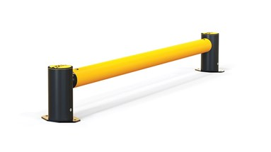 mFlex Single Traffic flexible polymer safety Guardrail (Micro) side view