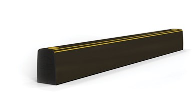Ground level kerb safety Guardrail protection anti pierce side view