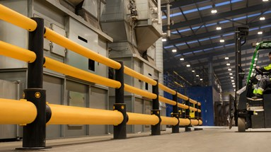 Combilift protects new facility with A-SAFE polymer safety guardrails