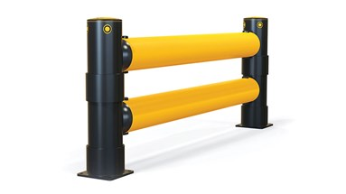 Atlas Double Traffic flexible polymer safety Guardrail Side View