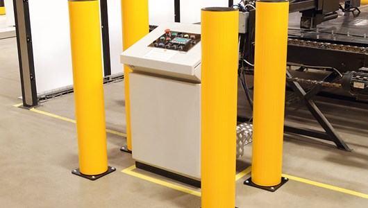 industrial bollard safety Guardrail protection in factory