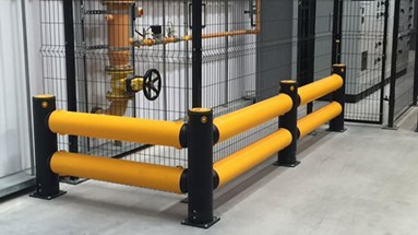 Heavy duty barriers protecting assets