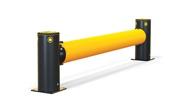 iFlex Single Traffic flexible polymer safety Guardrail side view