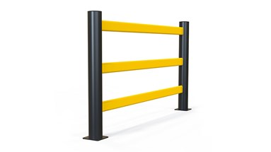 pedestrian 3 rail safety protection Guardrail for stadium