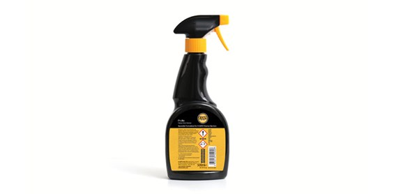 heavy duty safety guardrail cleaning spray back view