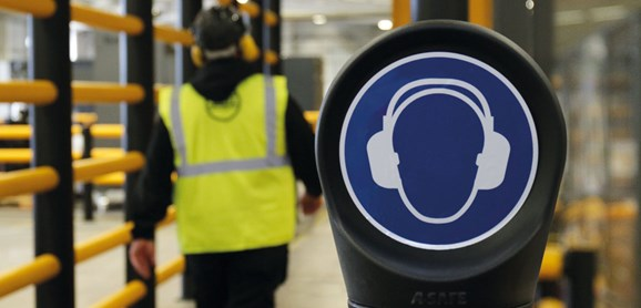 safety sign cap for traffic management, hazards, regulatory information and safety messages in warehouse