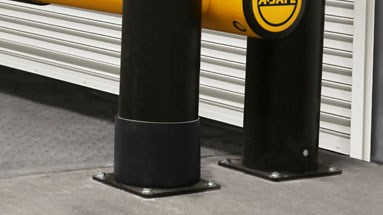 Protected dock gate base plates