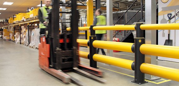 iFlex Double Traffic+ flexible polymer with pedestrian safety Guardrail at factory