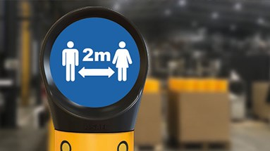 Safety signs distancing guidance