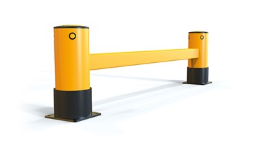 reFlex Single Rail RackEnd flexible polymer safety Guardrail side view