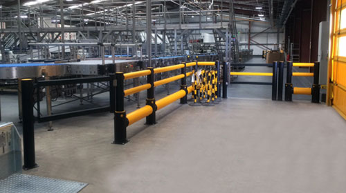 Impact safety barriers at Coca Cola facility