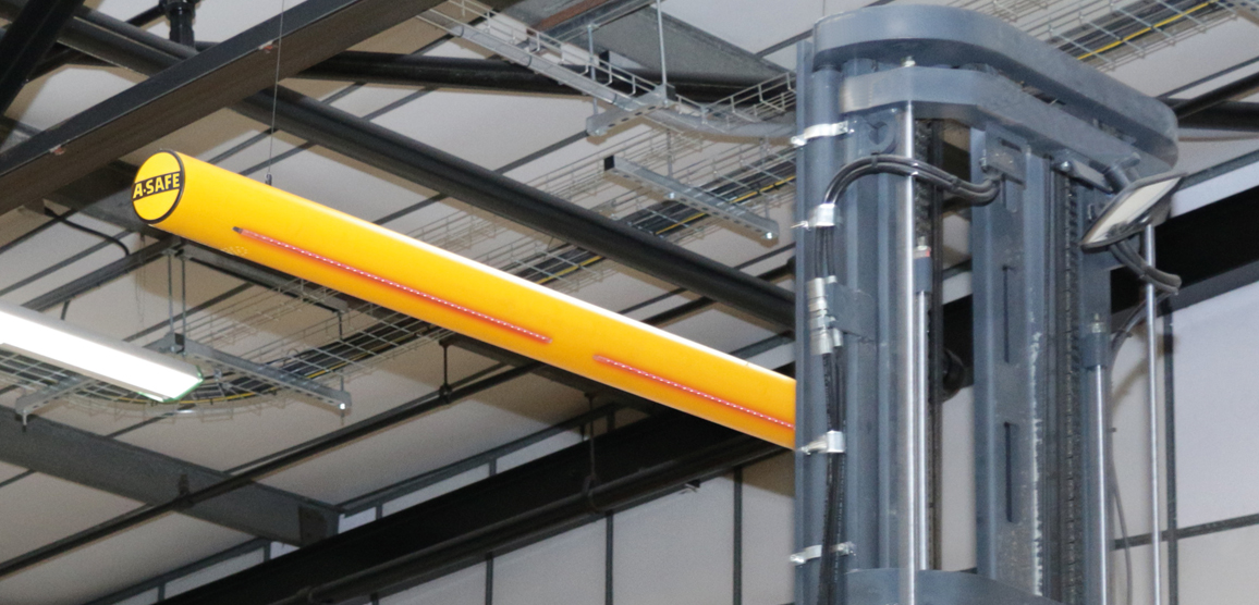Alarm bar overhead vehicle warning protection in factory
